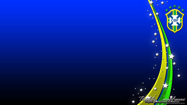 Brasil CBF Wallpaper Blue