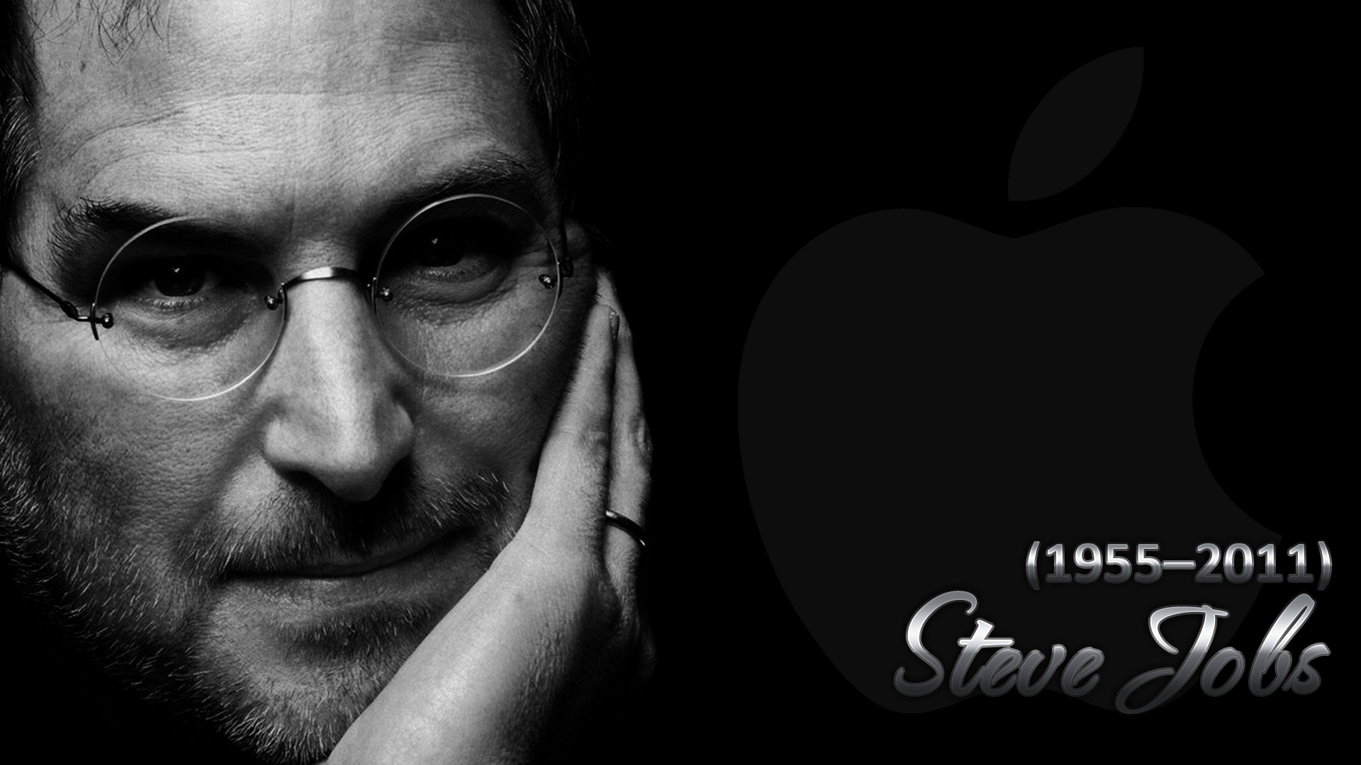 Steve Jobs Walpaper Black by renatofraccari