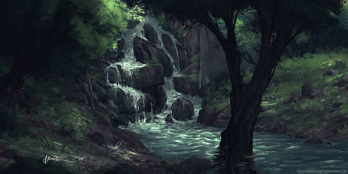 Forest Stream by onlychasing-safety