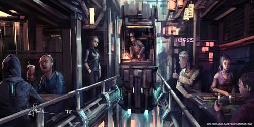 Skyward Restaurant Alley