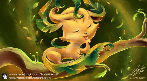 LEAFEON | EEVEELUTION | DAY 9 | by Apolar