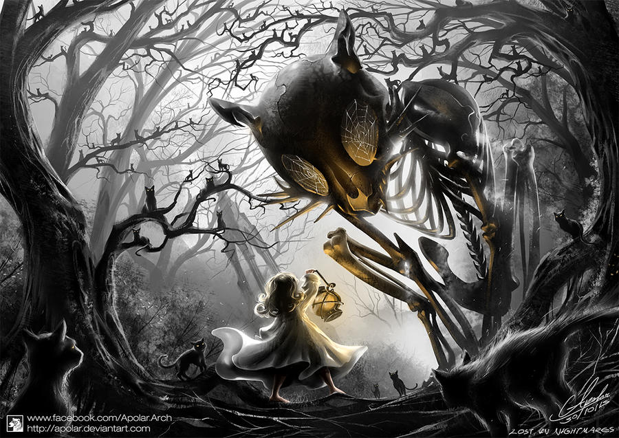 LOST IN NIGHTMARES   Halloween Contest Entry   by Apolar