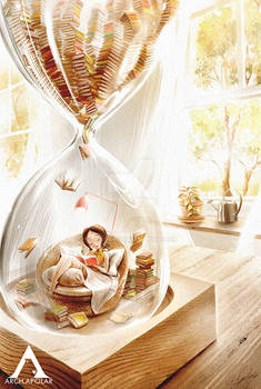 LOVE TO READ Inside The Hourglass (PrintsForSale)