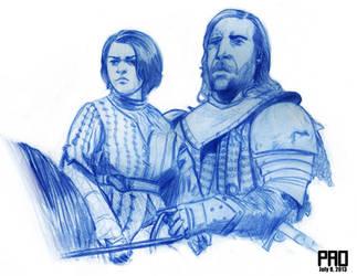 Arya and the Hound by joemanoh