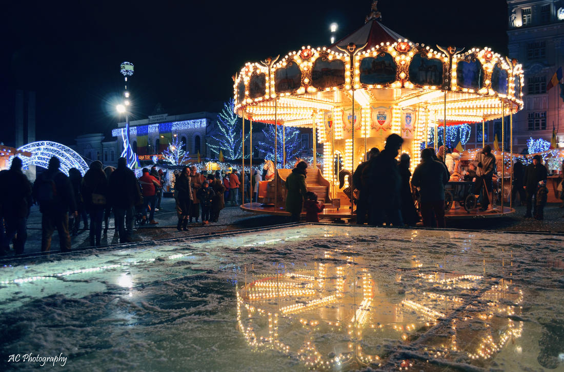 Carousel reflections by anna-hawk