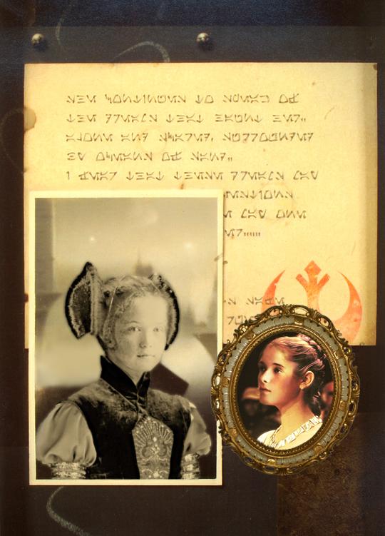 Grand Duchess Olga as Princess Leia by Livadialilacs