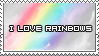 Rainbow Stamp by ladieoffical