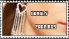 Dangly Earrings Stamp by ladieoffical