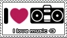 Music II Stamp by ladieoffical