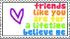 Friends Like You Stamp by ladieoffical