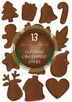 GINGER BREAD SET for scrapbooking and decoration