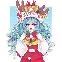 Christmas Miku Collab by Saiko-ugh