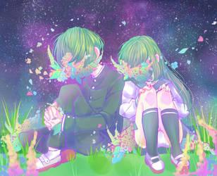 flower siblings  by Saiko-ugh