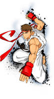 Ryu Colouring Practice
