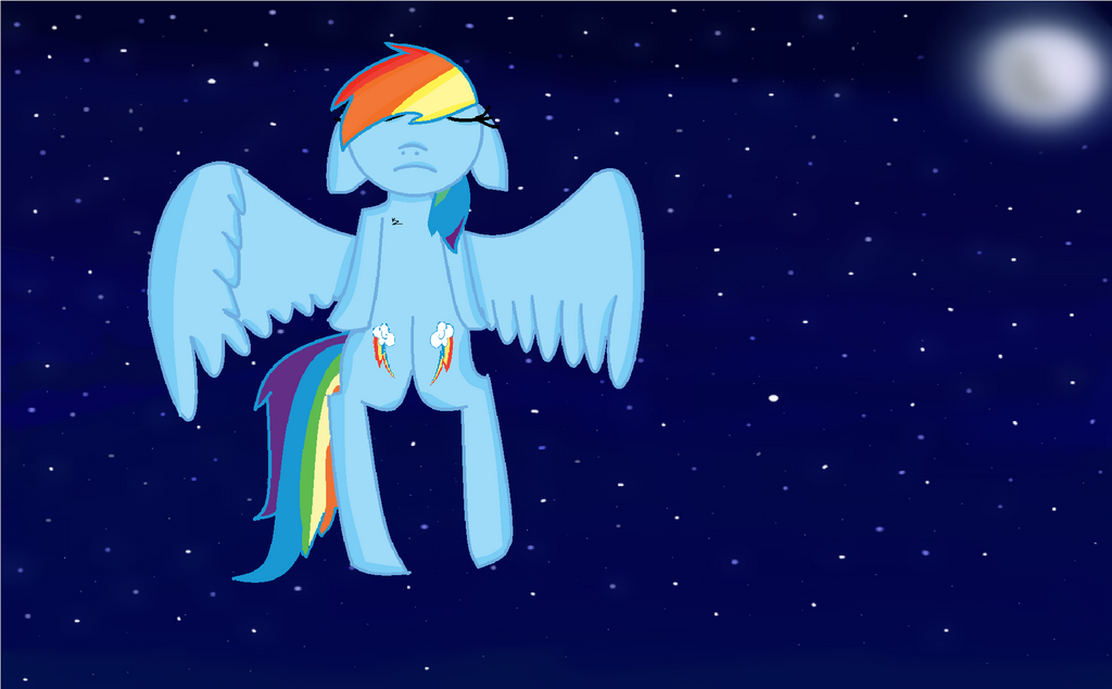 MLP Rainbow Dash Sad by BrownieXPandaFluff