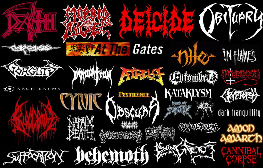 Death Metal bands by JoaoMordecaiMapper