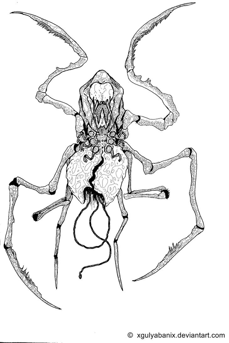 Xenomorph coloring pages for Xenomorph coloring pages