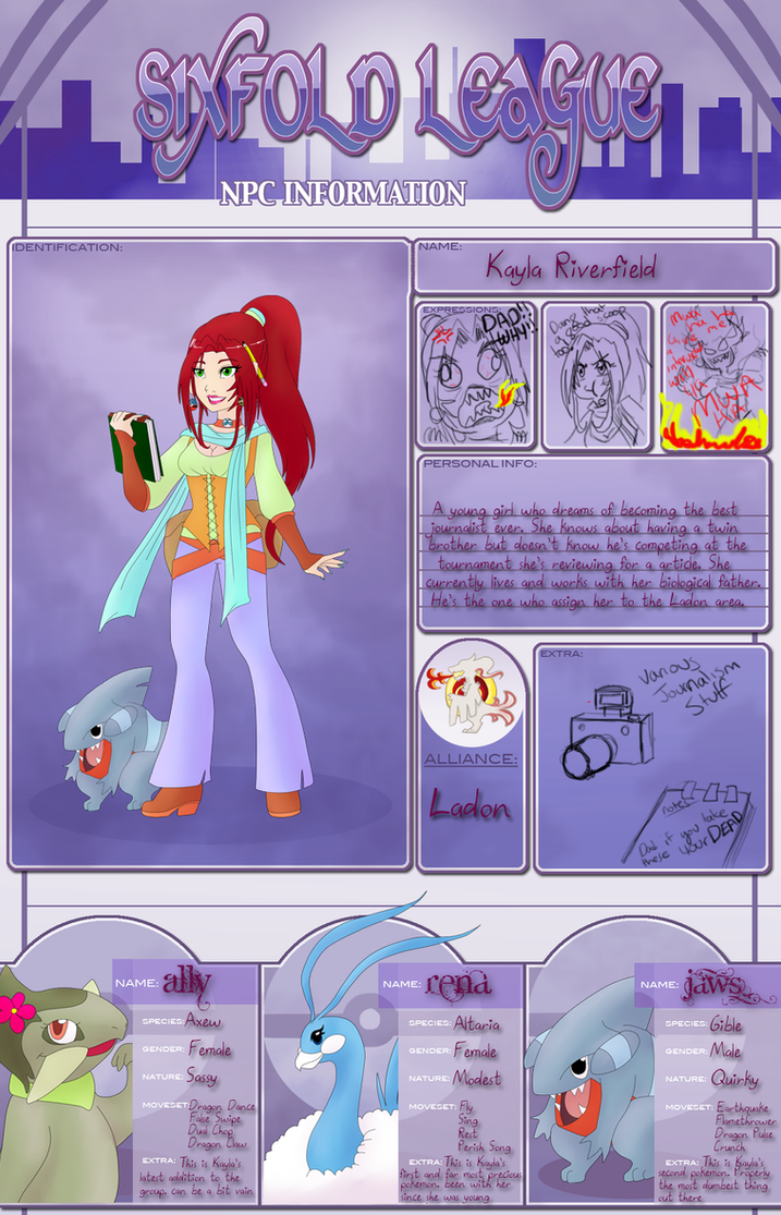 SXL ladon: Kayla NPC app by Red-RainGoddess