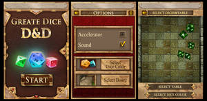 Greate Dice interface