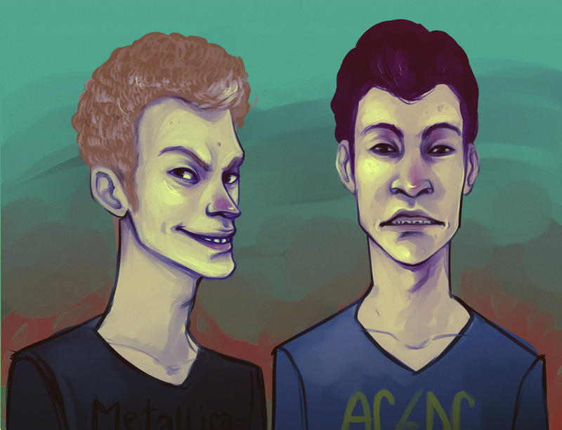 Beavis and Butthead by andrahilde