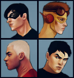 Young Justice - The Boys by andrahilde