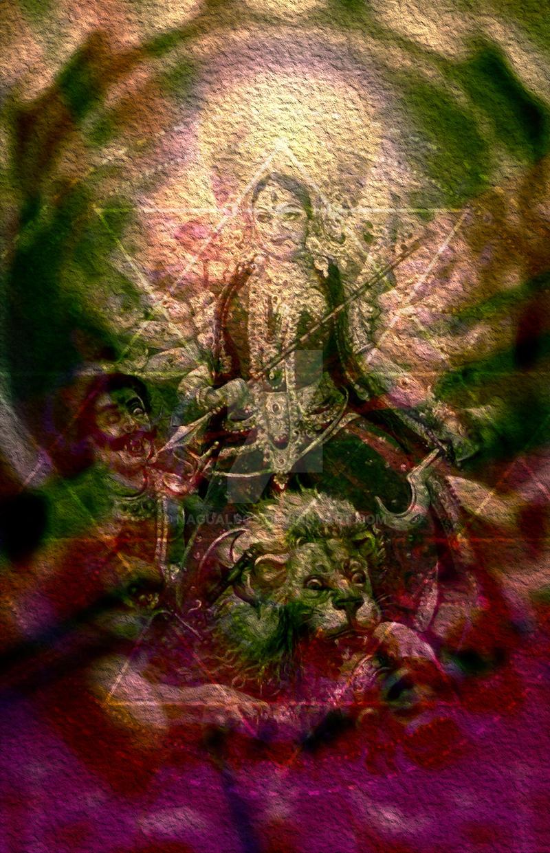 Durga Maa Kills Demons By Nagualdos On Deviantart