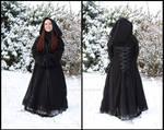 Gothic pixie winter coat by sombrefeline