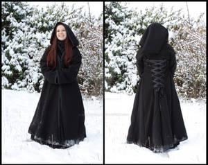 Gothic pixie winter coat