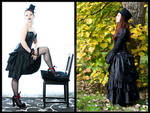 Sinner and Saint bustle skirt by sombrefeline