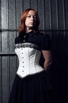 Victorian white corset
