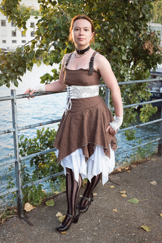 Steampunk summer dress by sombrefeline