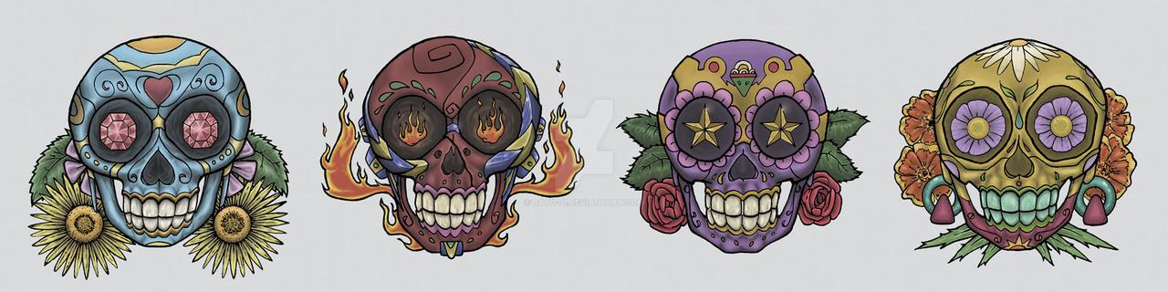 Skulls Mexican by Bato-01