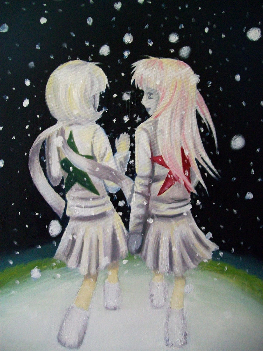 Anime Girls Walking In Snow By Ronigirl On DeviantArt