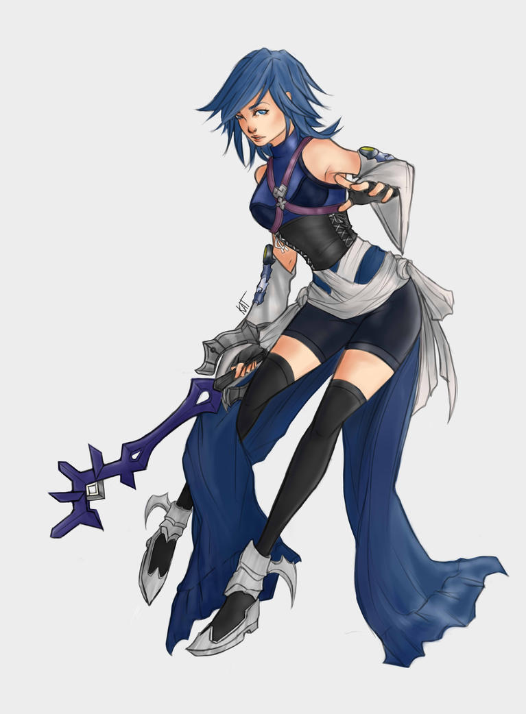 kingdom hearts aqua by kat senpaii on deviantart. Black Bedroom Furniture Sets. Home Design Ideas