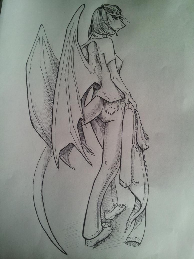 Shadow Draconian Form by ShadowDraik