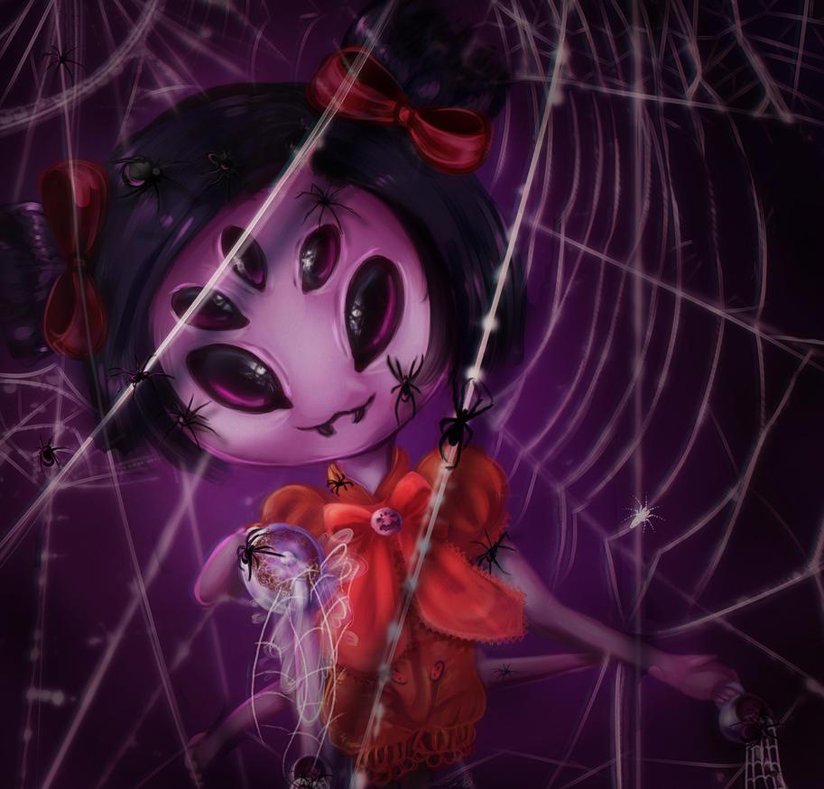 Little Miss Muffet by Liizzieh-Koi