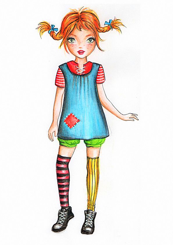 Pippi Longstocking by funandcake