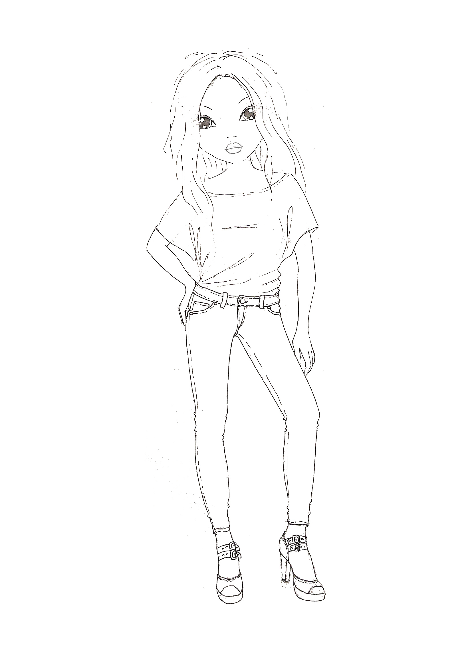 Fashion Model Base Coloring Pages Fashion Model Coloring Pages