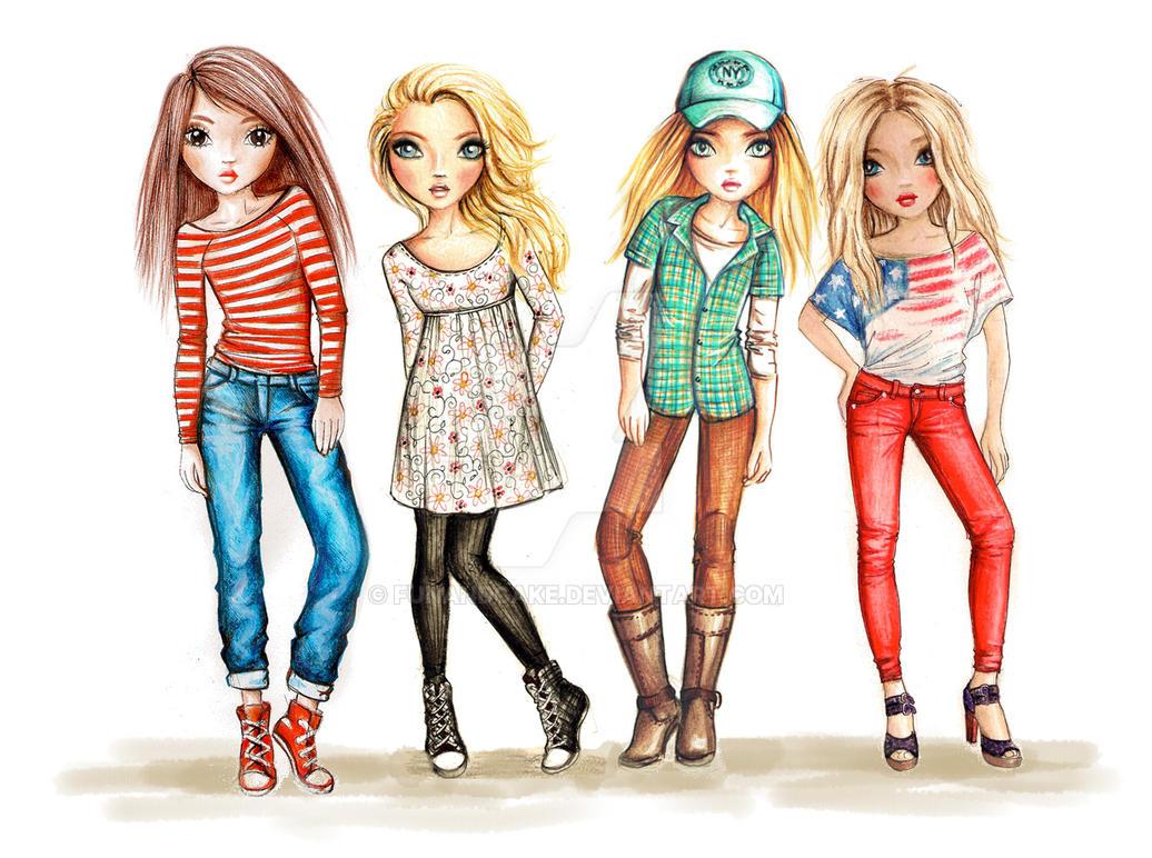 Topmodel friends by funandcake on deviantart for Top mobel