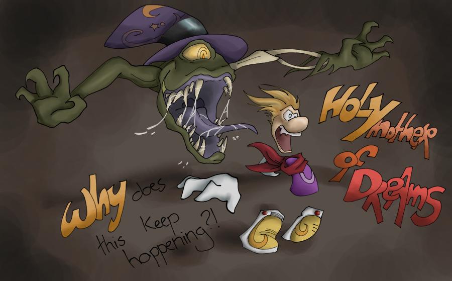 Jano attaque Rayman