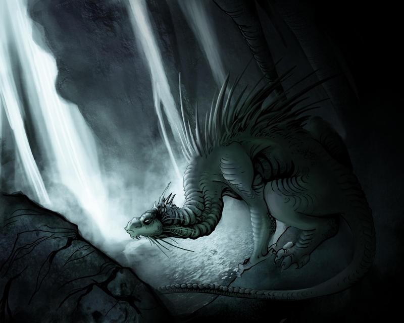 Cave creature by Mystalia