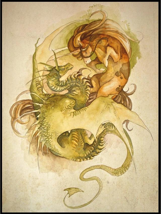 Dragon vs. Unicorn 2 by Mystalia