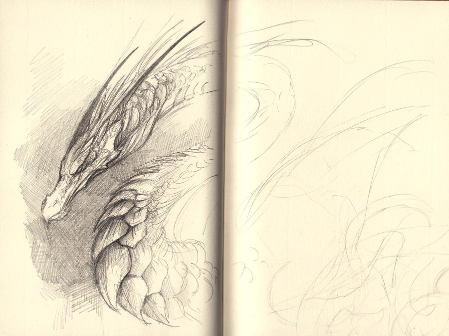 Sketchpage - some dragon by Mystalia