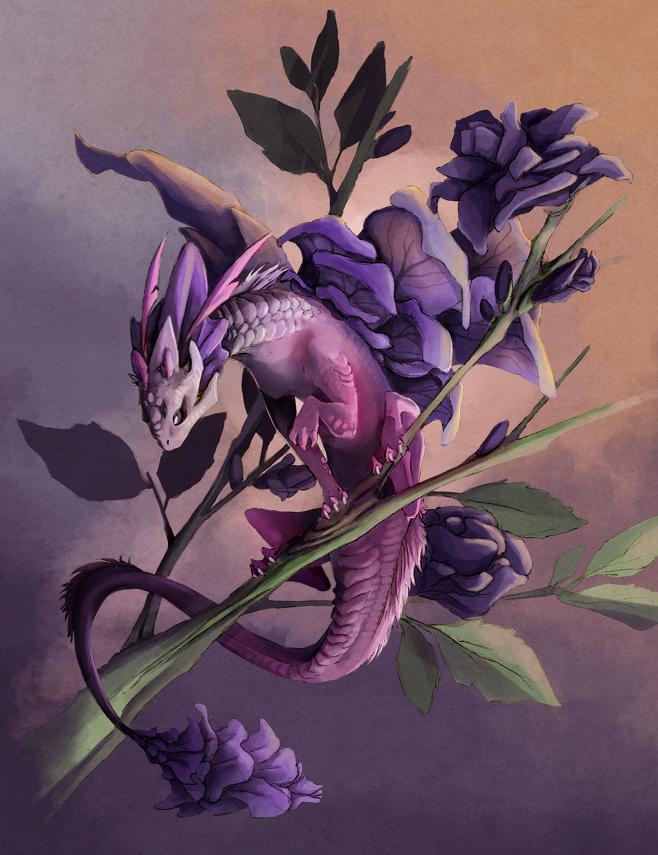 Purple Petals by Mystalia