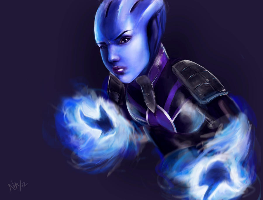 Mass Effect Asari by RedMjrn