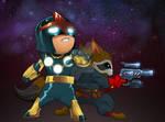 Nova and Rocket Raccoon