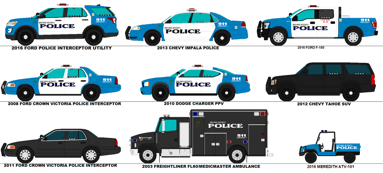 Brevard Heights Police Department Patrol Cars By Scfdunit1