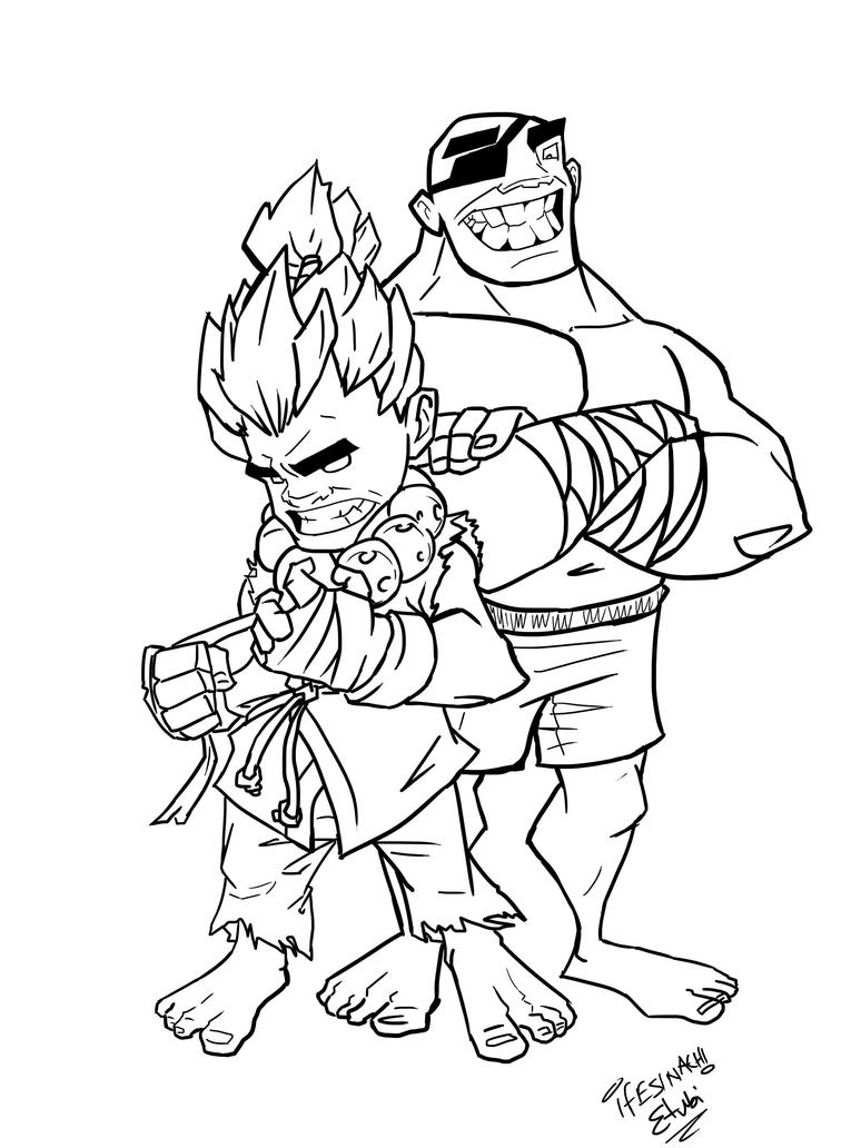 street fighter coloring pages - photo#29