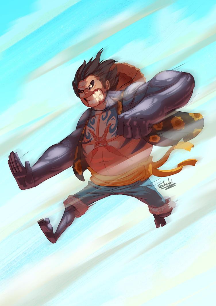 Gear Fourth Luffy by etubi92