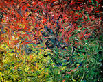 Flouricide - Large Psychedelic Painting